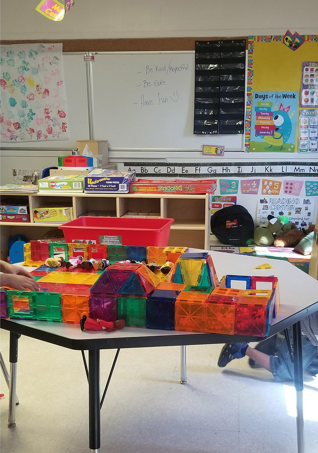 Building blocks and fun shapes Childcare Center and daycare at New Beginnings